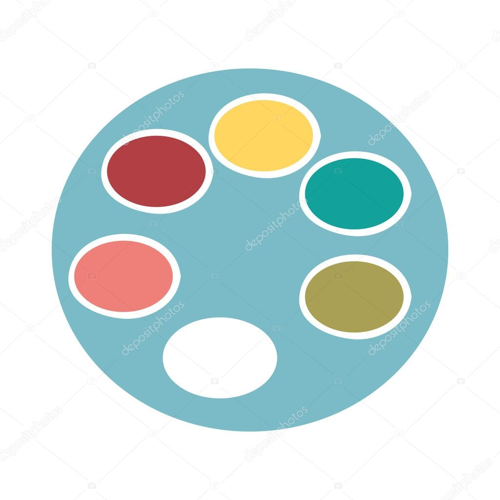 Palette De Couleurs Isolés Dessin Icône Image Vectorielle