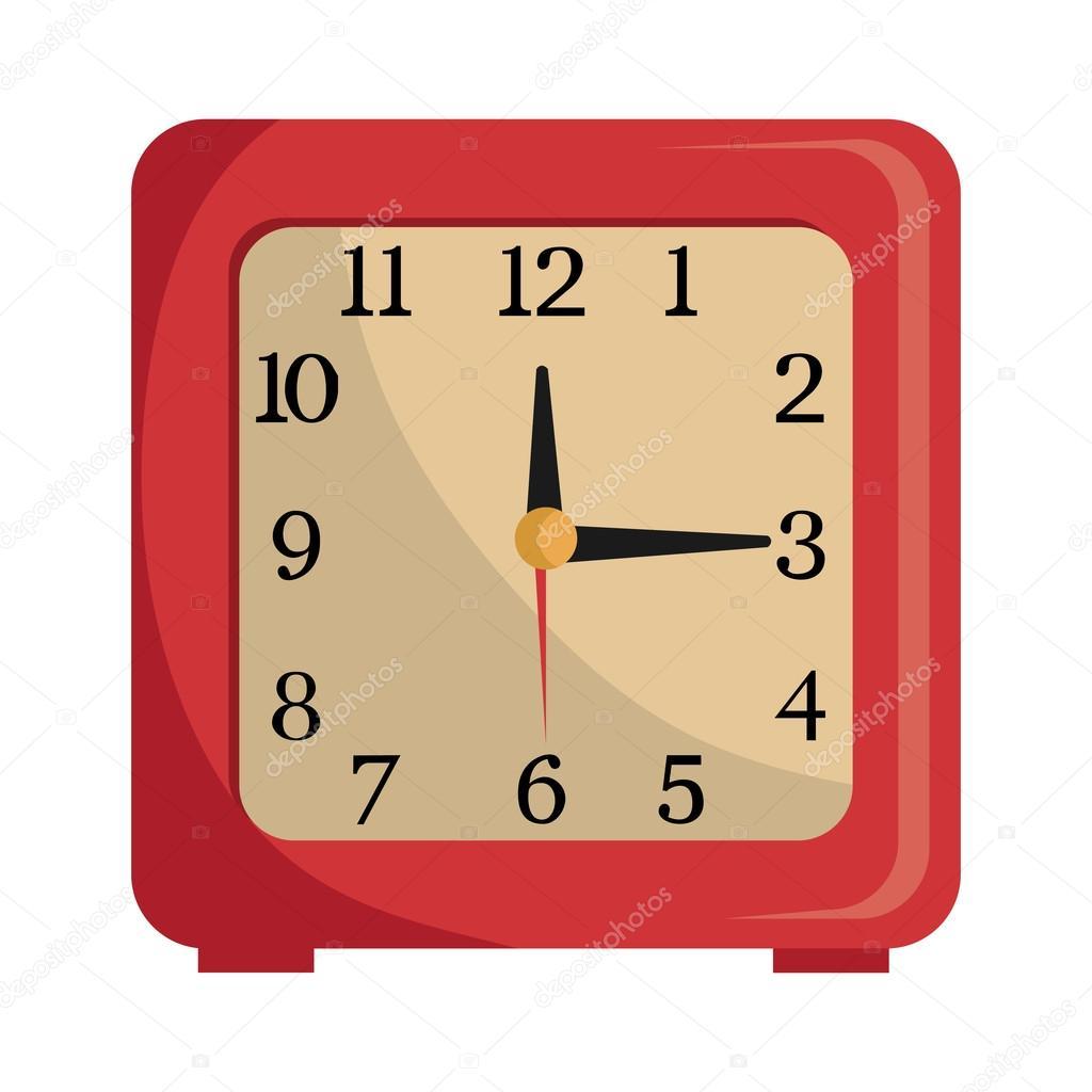colorful table clock, vector graphic — Stock Vector © yupiramos ...