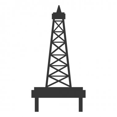 black and white petro tower, vector graphic