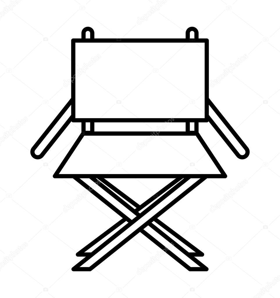 chaise r alisateur isol dessin ic ne image vectorielle. Black Bedroom Furniture Sets. Home Design Ideas