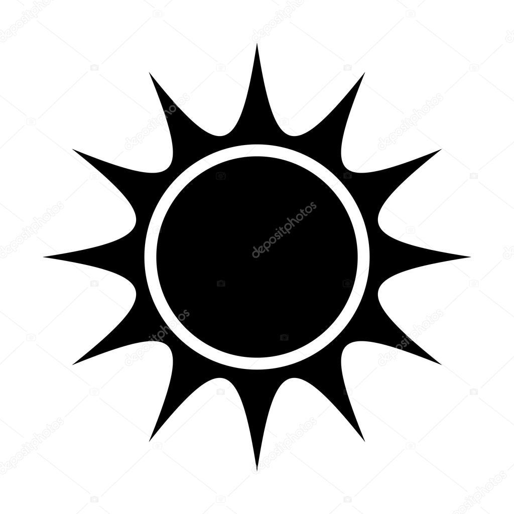 black abstract sun, vector graphic — Stock Vector ...