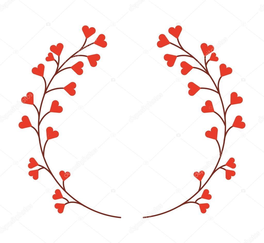 Couronne de fleurs isol es dessin ic ne image - Dessin de fleur en noir et blanc ...