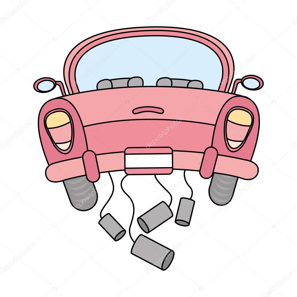 just married car isolated icon design stock vector  u00a9 yupiramos 115417758 car vector templates car vector png