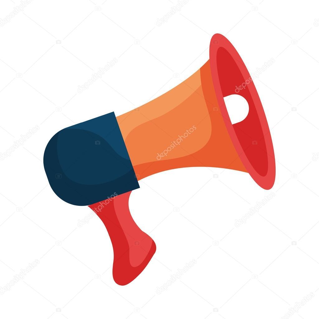 Bullhorn or megaphone colorful icon design stock vector orange bullhorn or megaphone colorful icon design vector illustration vector by yupiramos publicscrutiny Gallery