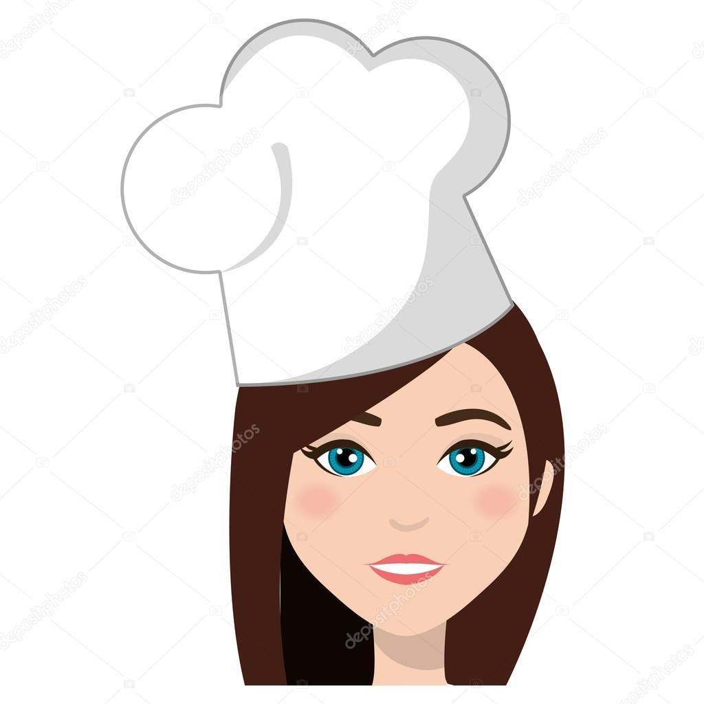Jeune Et Belle Femme Chef De Cuisine Conception De Dessin Animé
