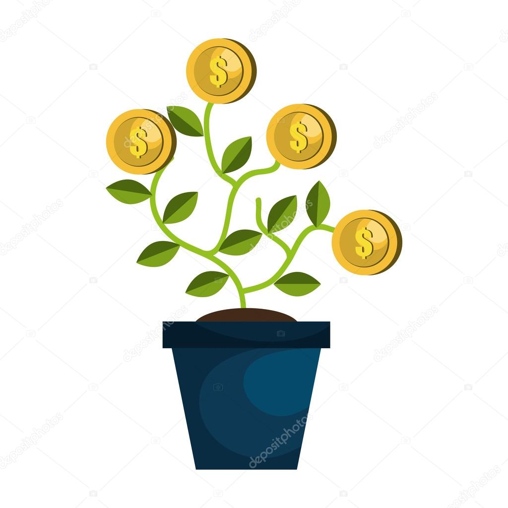 Money and business growing design.