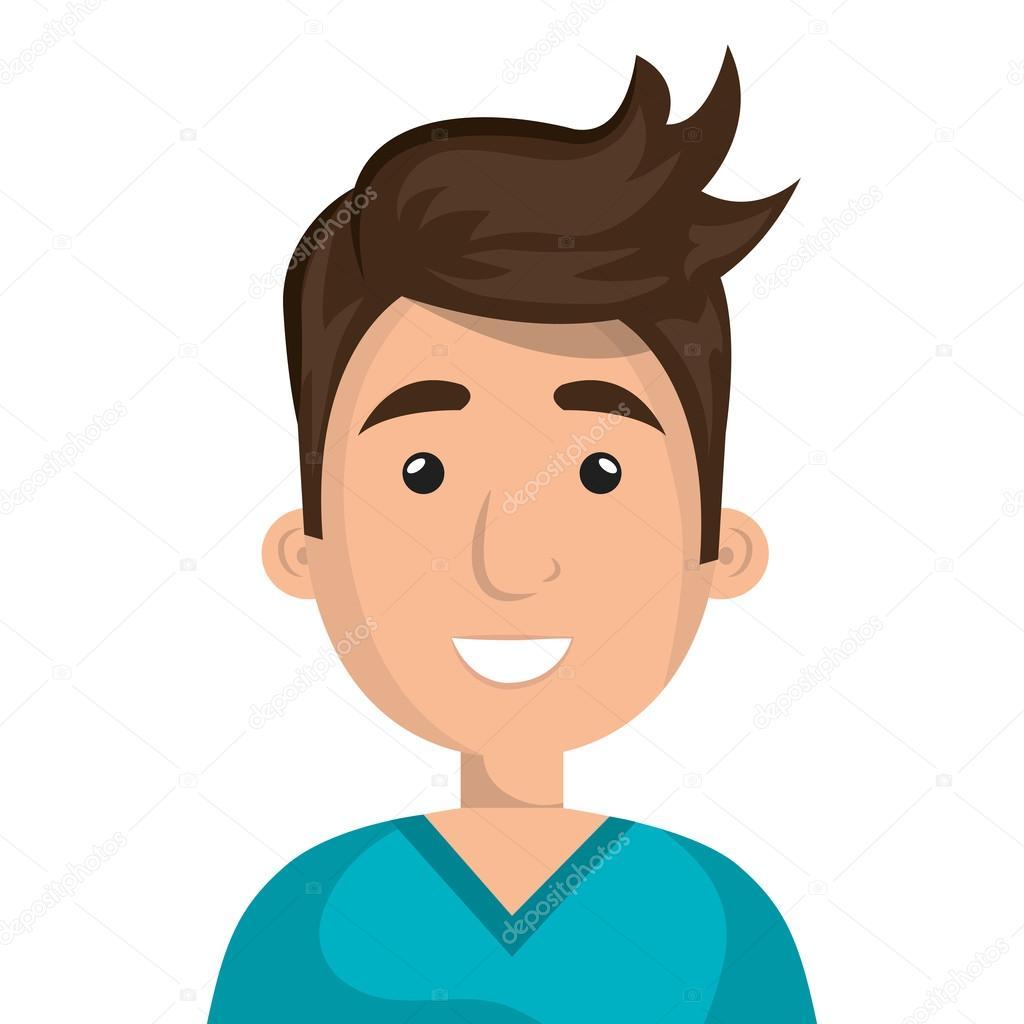 Genç Erkek Profil Vektör çizim Stok Vektör Yupiramos 115754578
