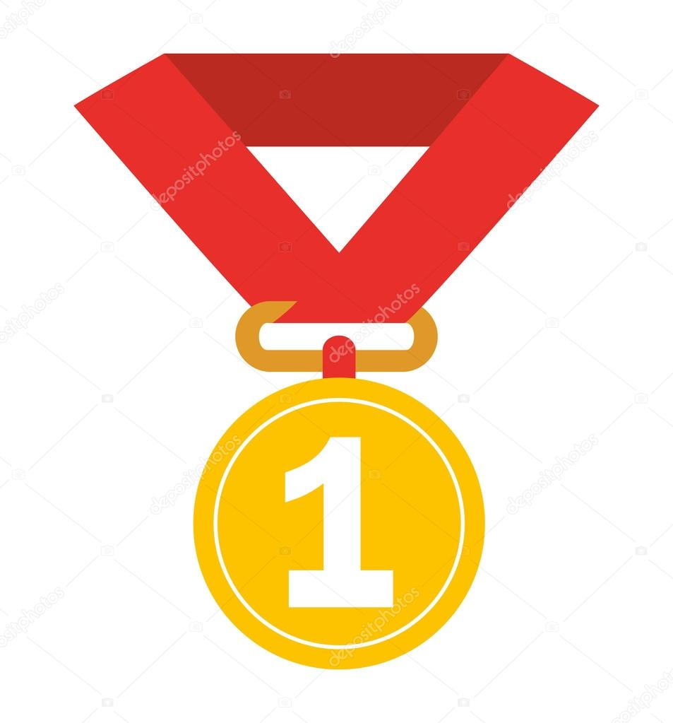 first place medal isolated icon design � stock vector