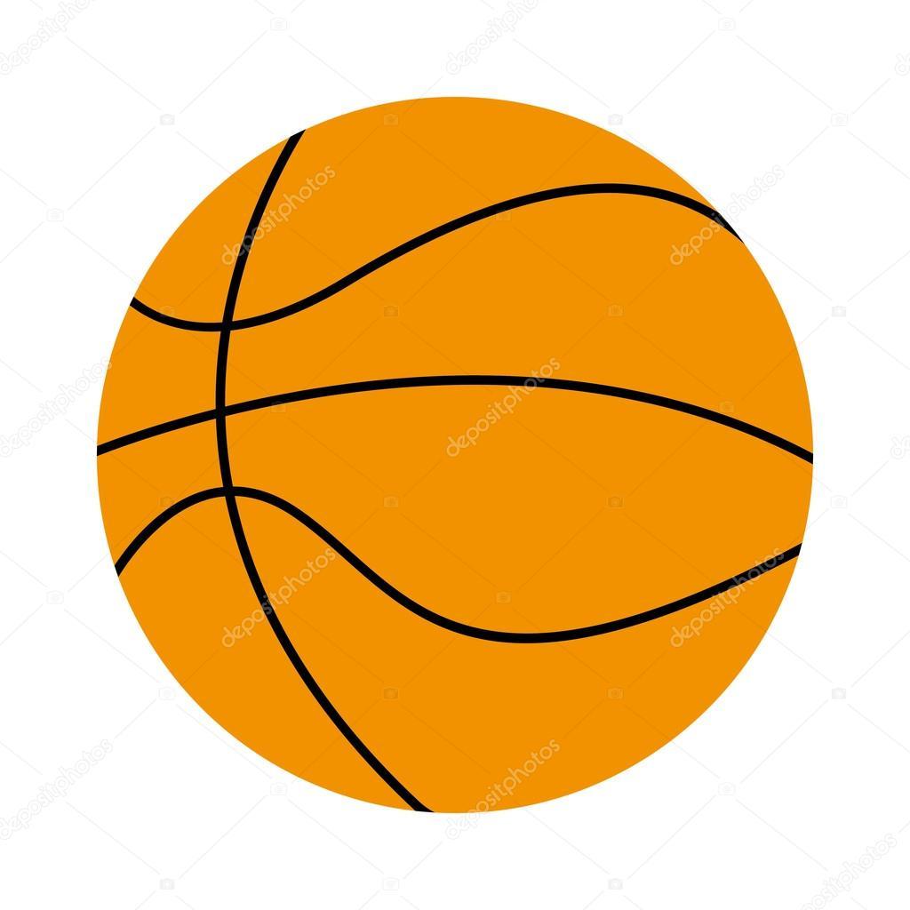 Ballon de basket isol dessin ic ne image vectorielle yupiramos 115853534 - Dessin basket ...