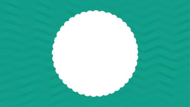 Siegel-Icon-Design mit Muster-Hintergrund