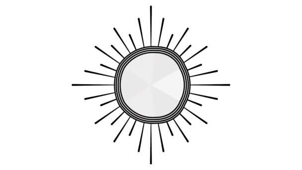Siegel-Icon-Design mit Linien