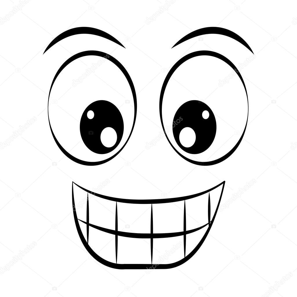 motic ne visage heureux isol dessin ic ne image vectorielle yupiramos 116003170. Black Bedroom Furniture Sets. Home Design Ideas