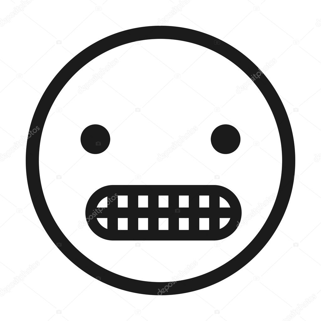 Angry Face Emoticon Isolated Icon Design Stock Vector Yupiramos