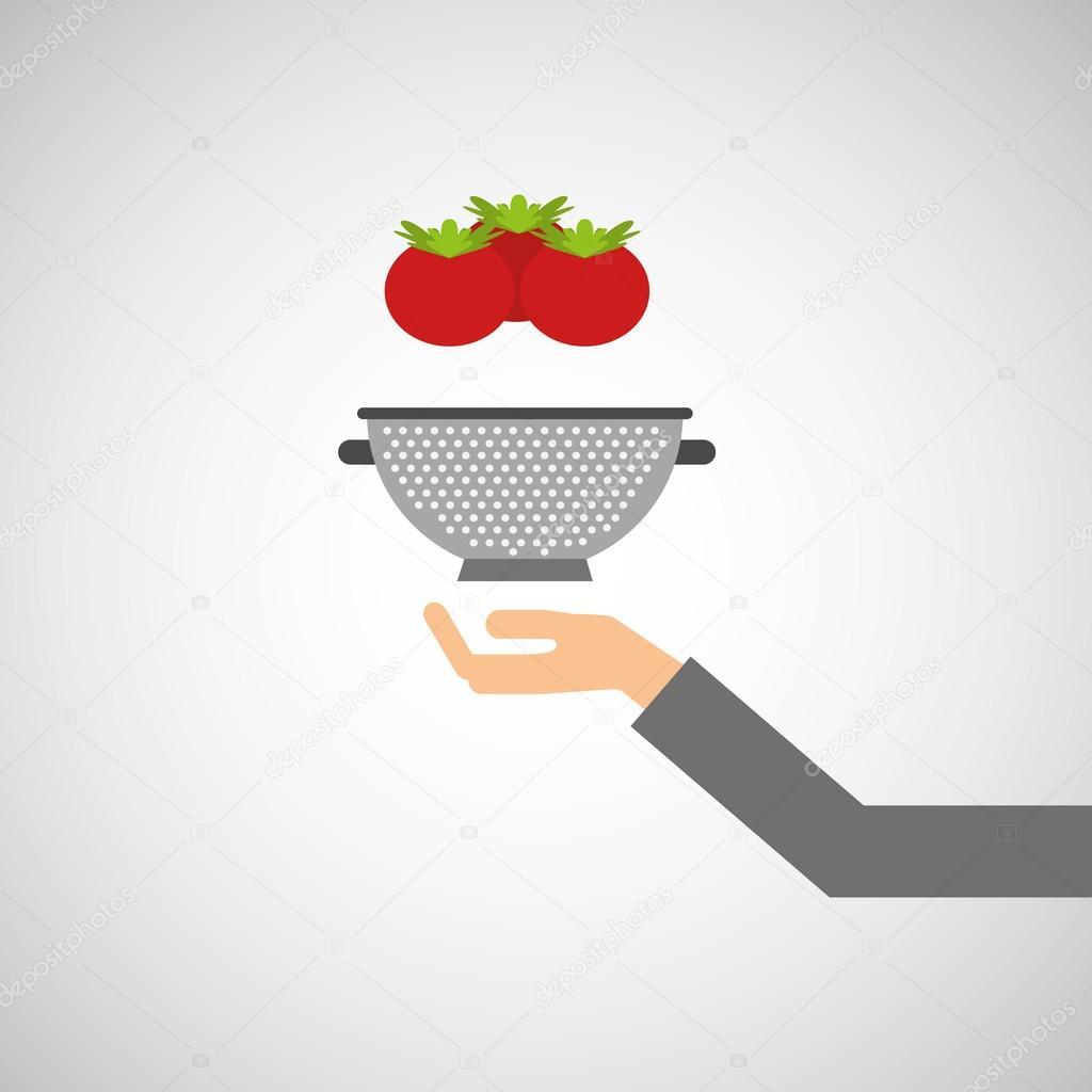 Cibo di strumenti di cucina pentole vettoriali stock for Strumenti di cucina