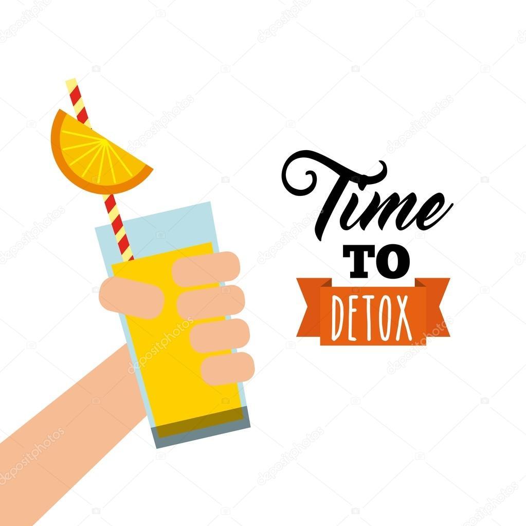 detox icon organic food design vector graphic � stock