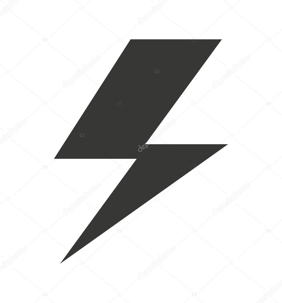 Elektro Symbol isoliert Icon-design — Stockvektor © yupiramos #116088790