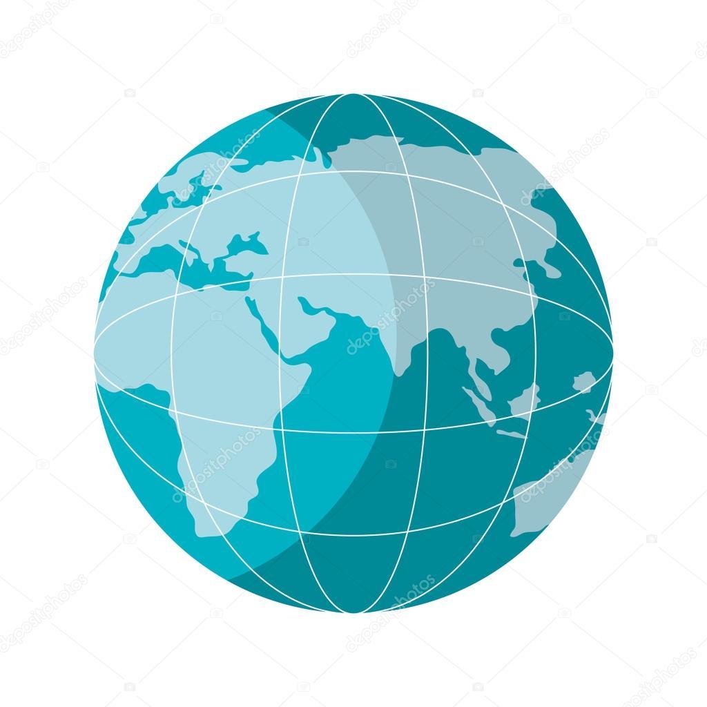 Ziemia Planeta Ikona Na Białym Tle Ilustracji Wektorowych Grafika