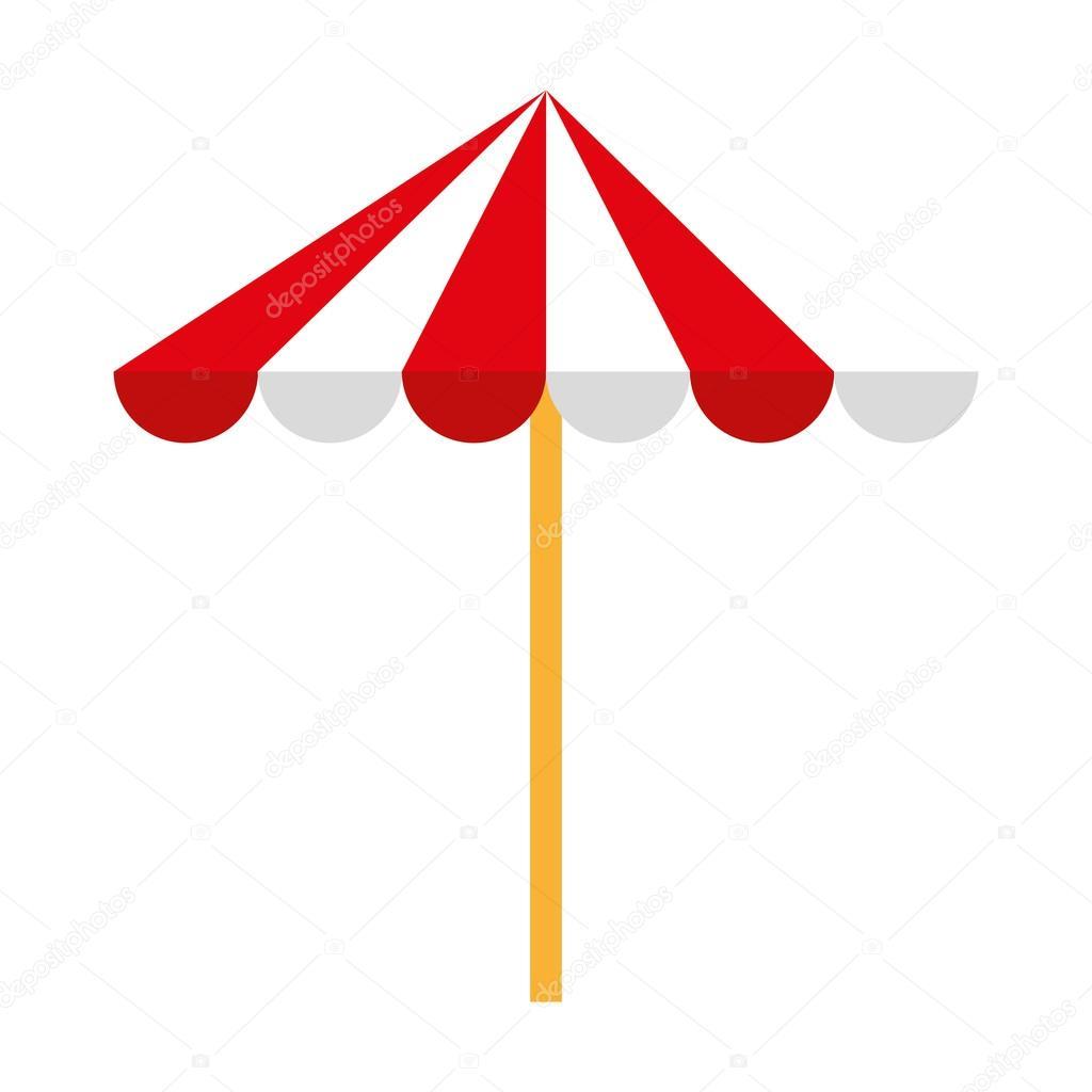 Dessin Parasol parasol de plage isolée dessin icône — image vectorielle yupiramos
