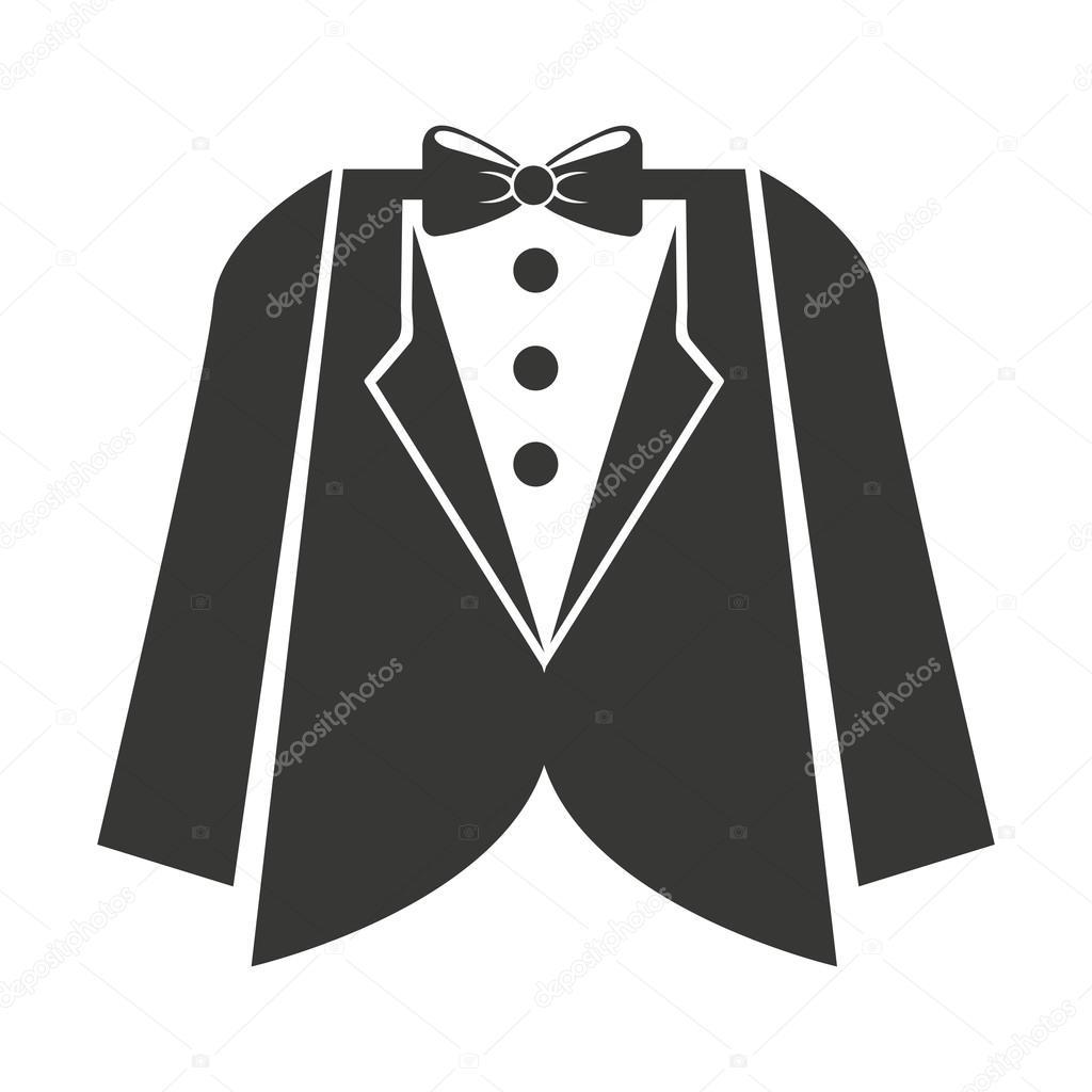 Costume de mariage mens isol dessin ic ne image - Dessin costume ...
