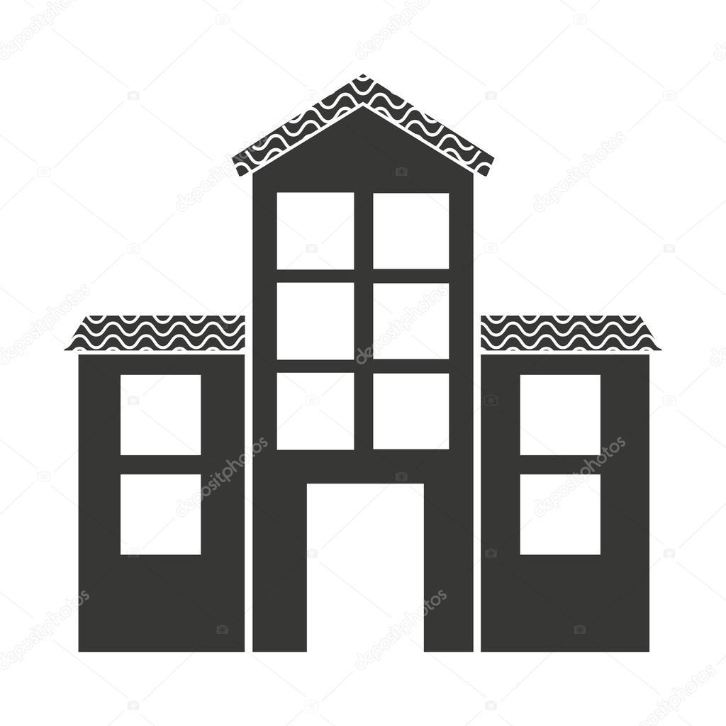 Haus außen isolierten Icon-design — Stockvektor © yupiramos #116711034
