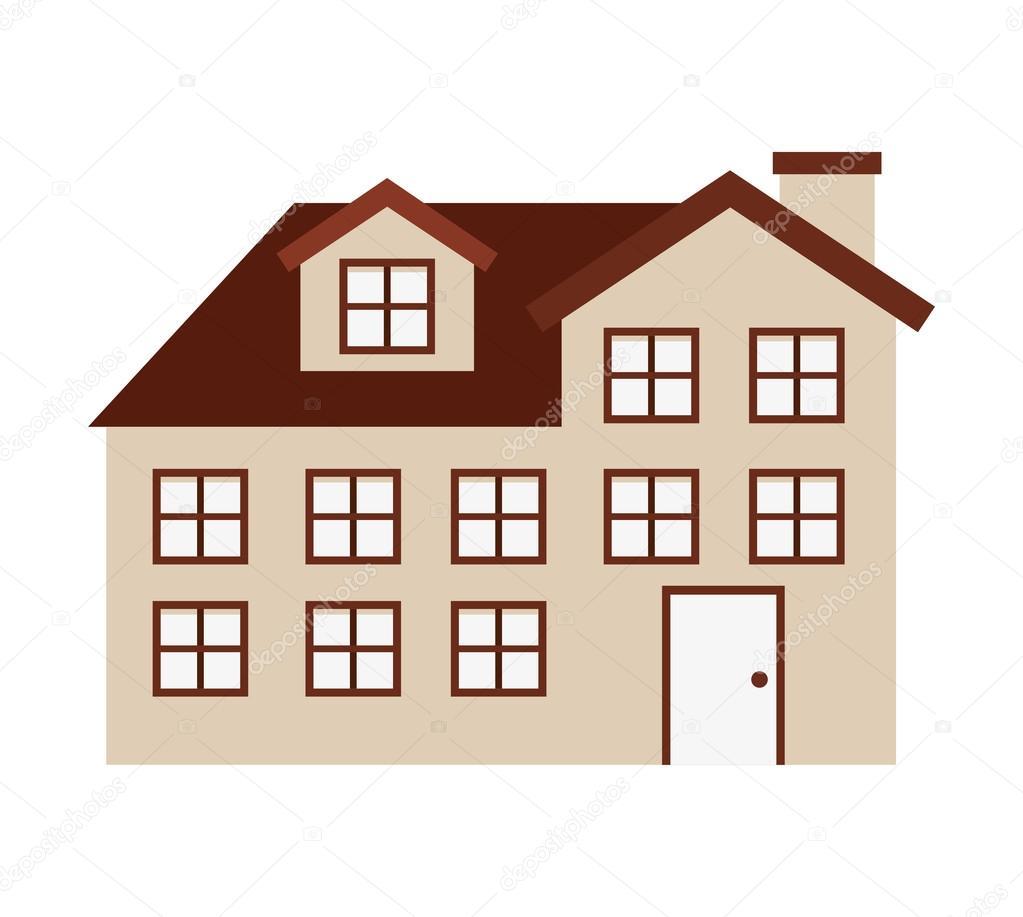 Haus außen isolierten Icon-design — Stockvektor © yupiramos #116711376