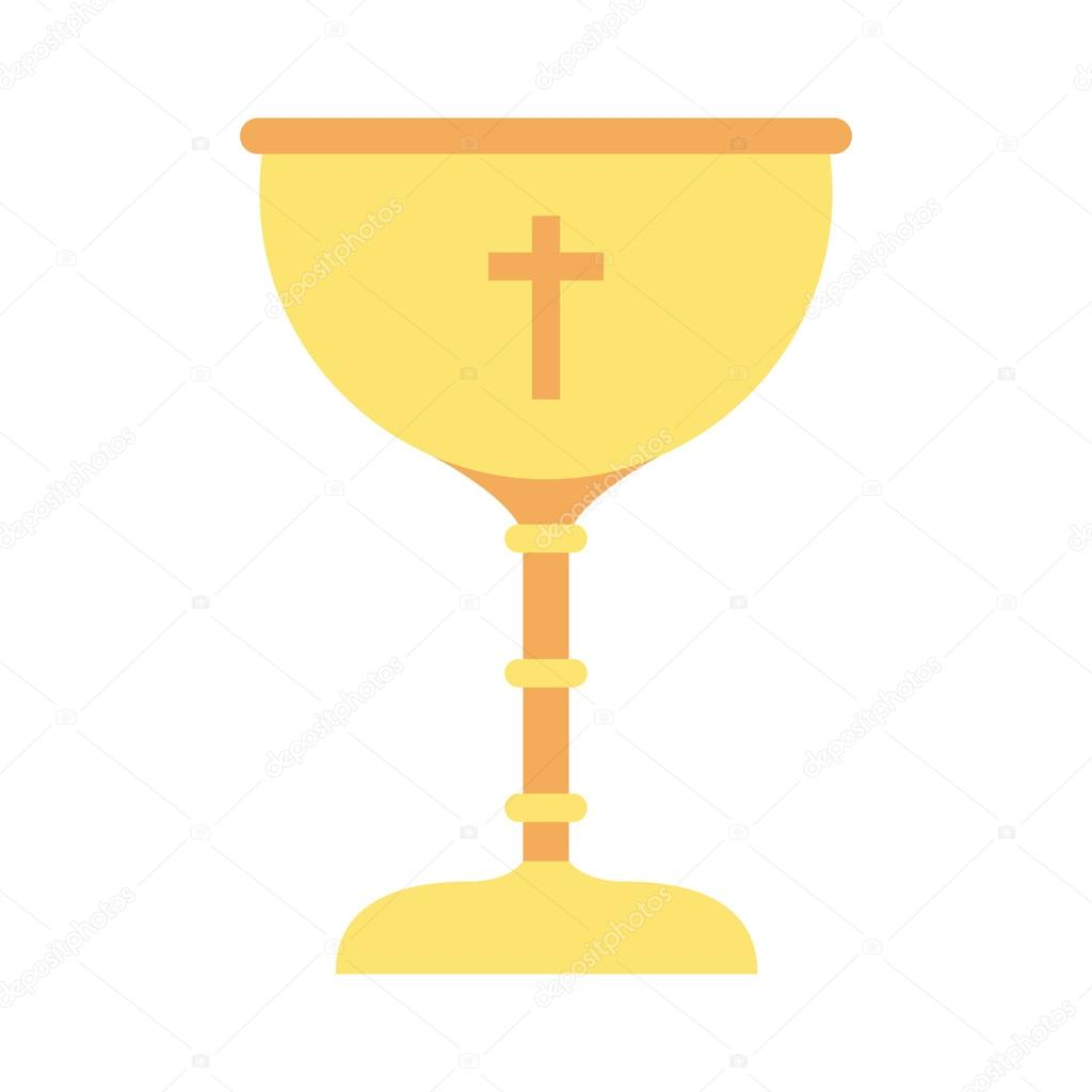 Cup Gold Chalice First Communion Icon Vector De Stock