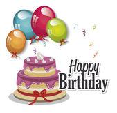 Happy birthday cake  isolated icon design