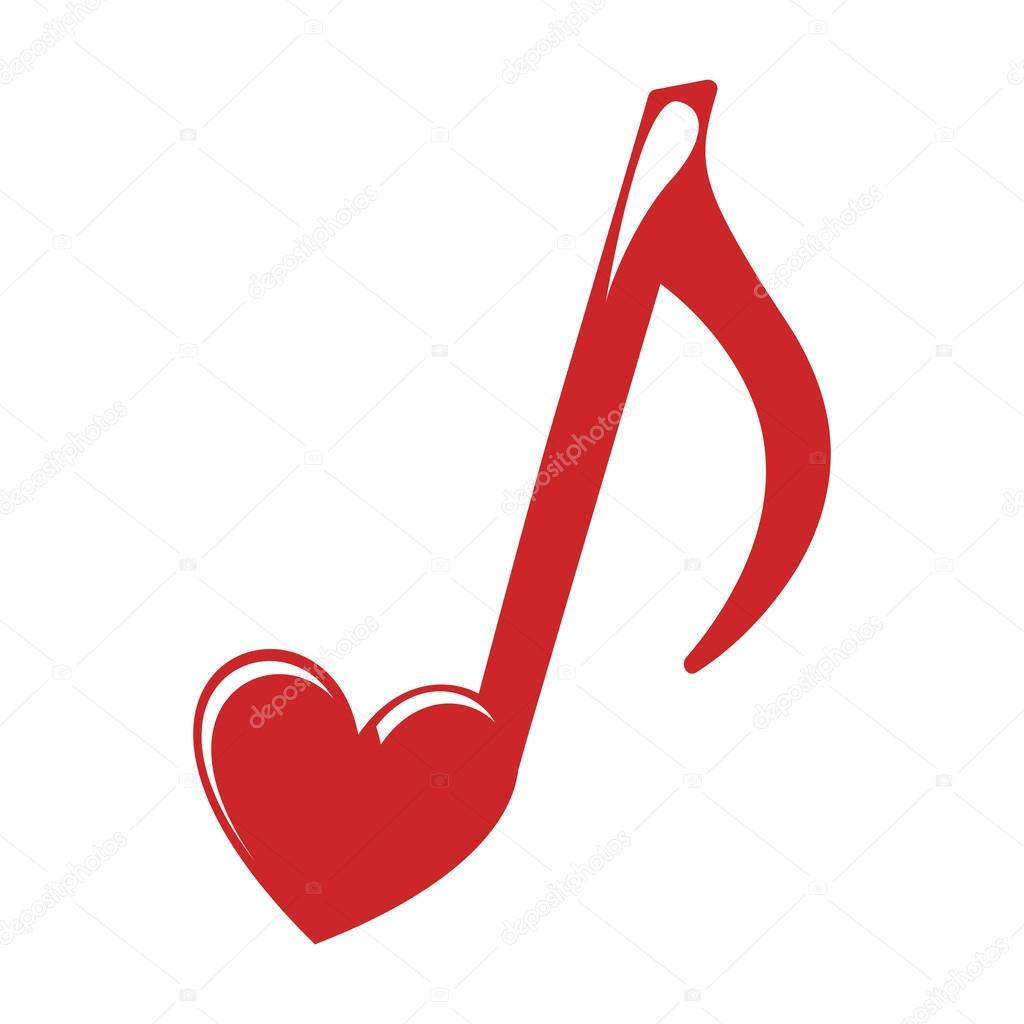 Imágenes Notas Musicales En Forma De Corazón Corazón De Nota