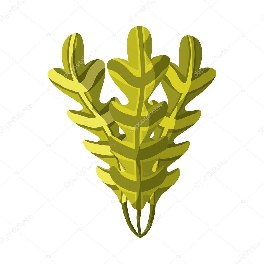Icona Di Alghe Disegno Di Vita Di Mare Vettoriali Stock