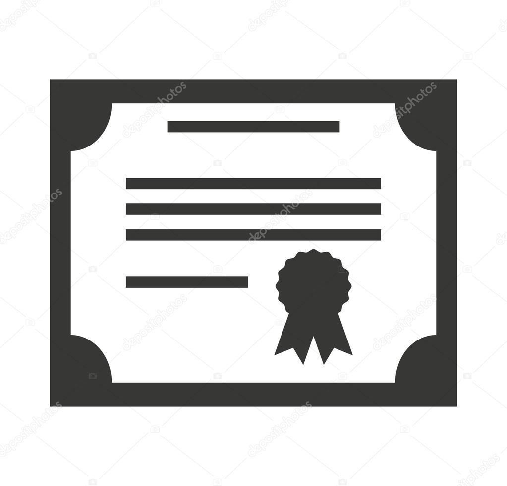 diploma certificate paper icon stock vector yupiramos 118382628