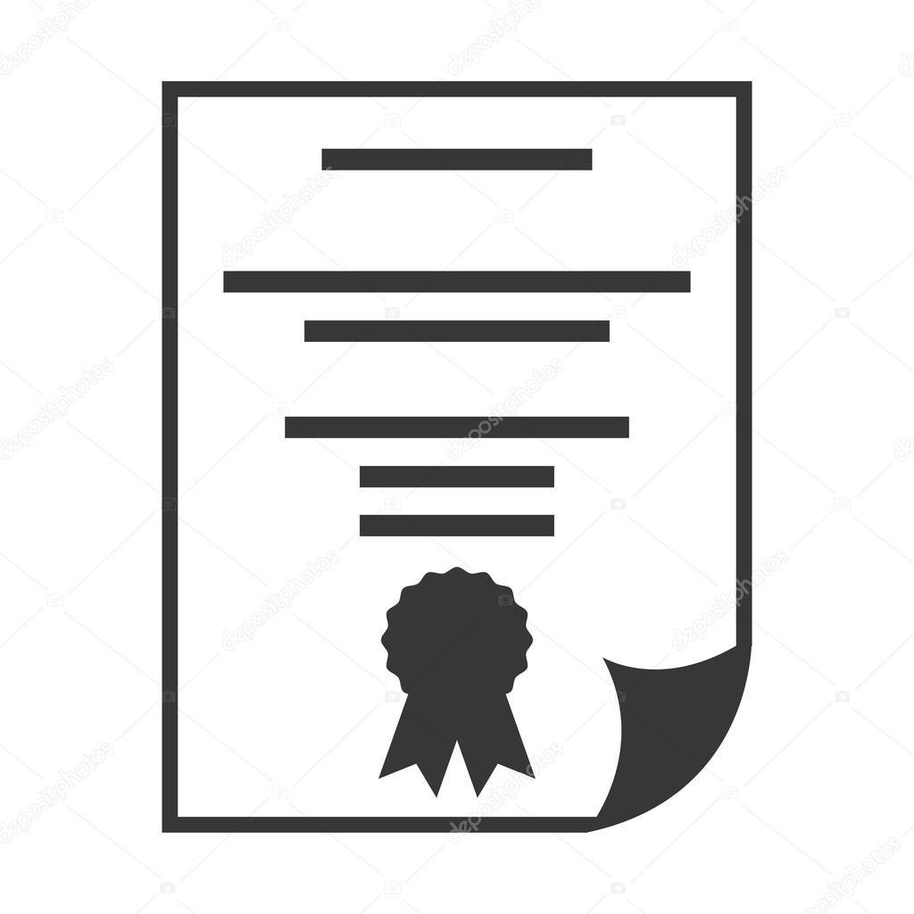 diploma certificate paper icon stock vector yupiramos 118385646
