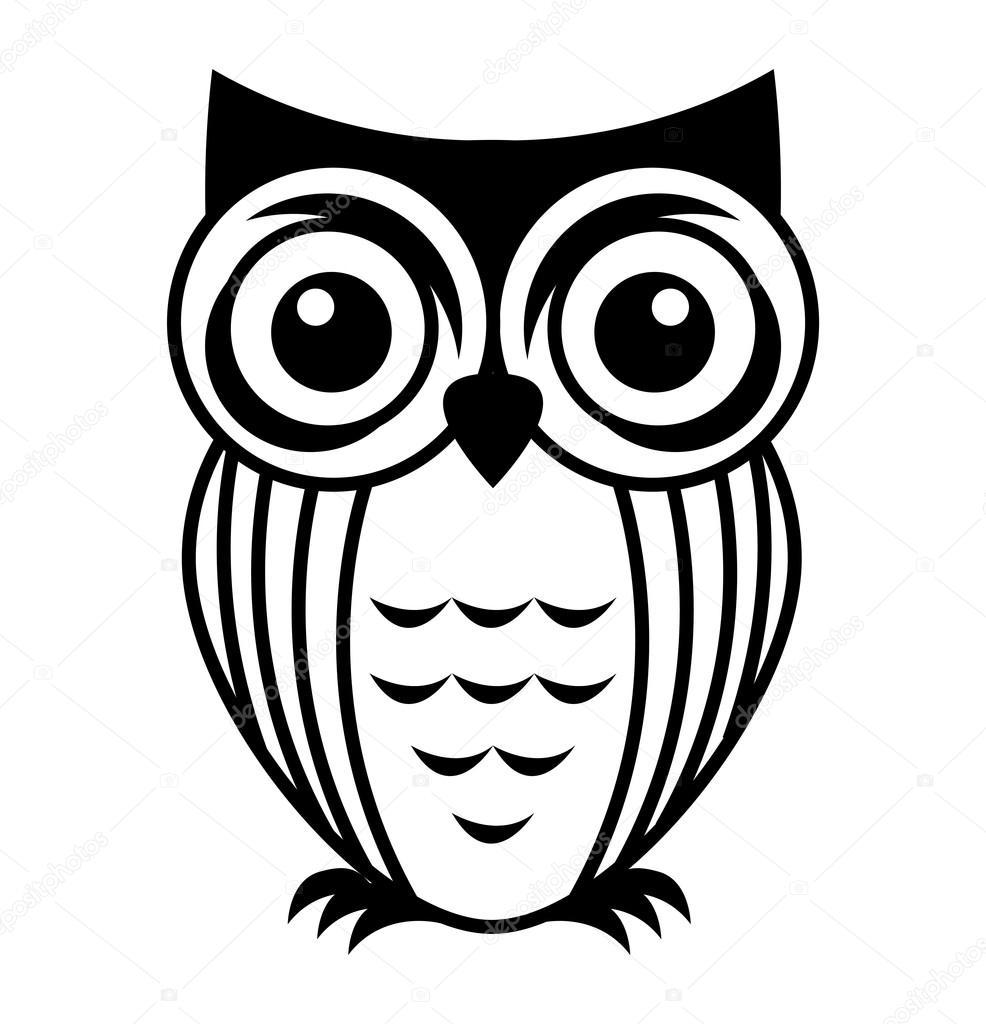 Ikona ładny Ptak Sowa Grafika Wektorowa Yupiramos 118386194