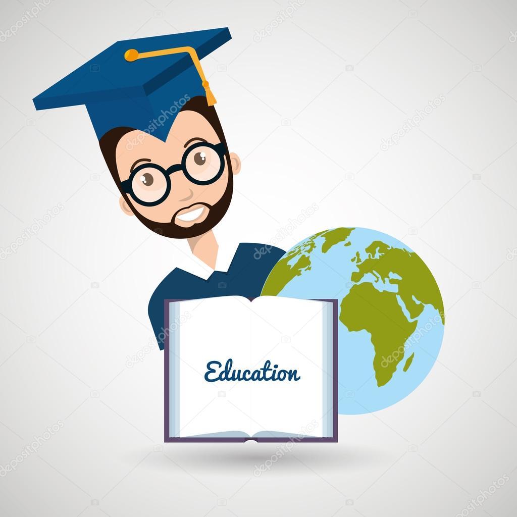 студент выпускной диплом мир Векторное изображение © yupiramos  Студент выпускной диплом мир стоковый вектор 118388386