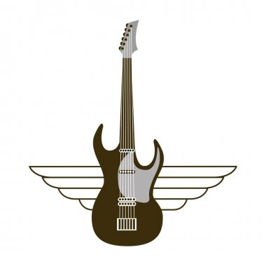 guitar electric musical instrument icon