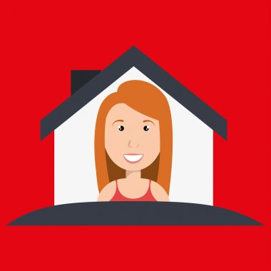 woman house insurance red