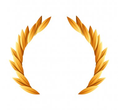 wreath gold award icon