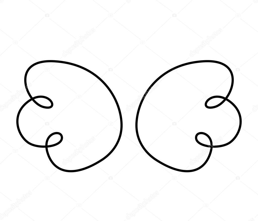 fl gel engel gezeichnete symbol stockvektor yupiramos 118434396. Black Bedroom Furniture Sets. Home Design Ideas