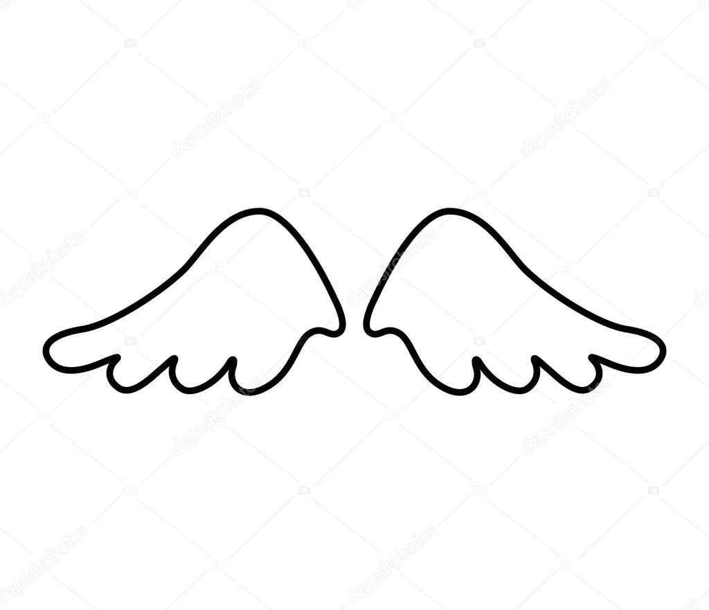 Fotos Alas De Angel Dibuja Icono De Alas Angel Vector De Stock