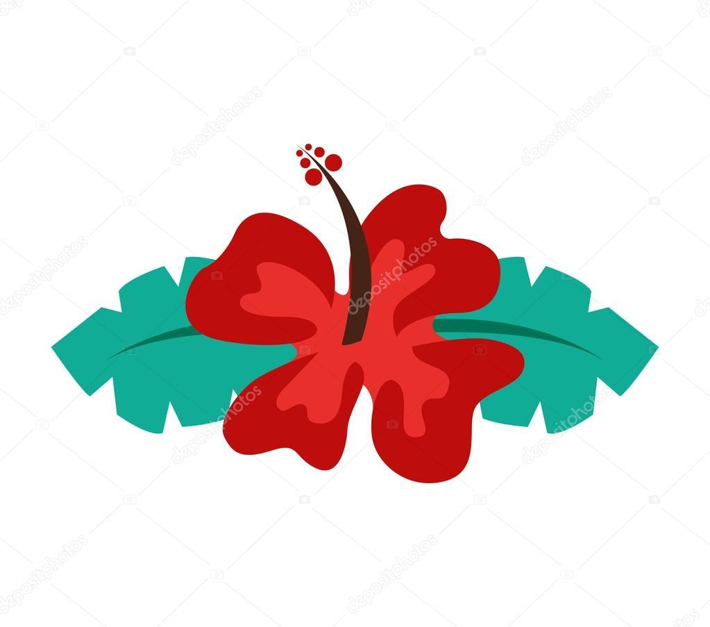 Hawaiian Flower Natural Icon Stock Vector Yupiramos 118440458