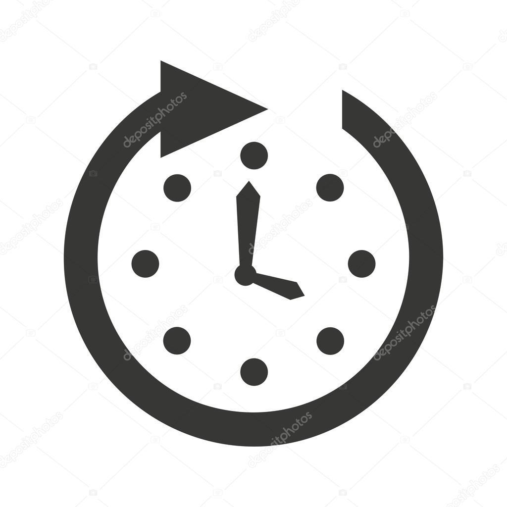 Uhr Uhr-Symbol — Stockvektor © yupiramos #118442544