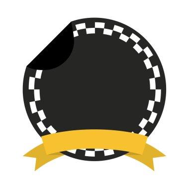taxi frame ribbon emblem icon