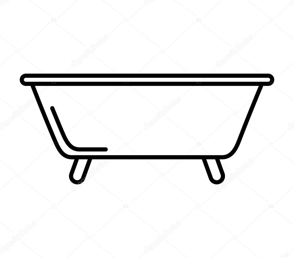 Bain Baignoire Propre Icne Vector Illustration Design Vecteur Par Yupiramos