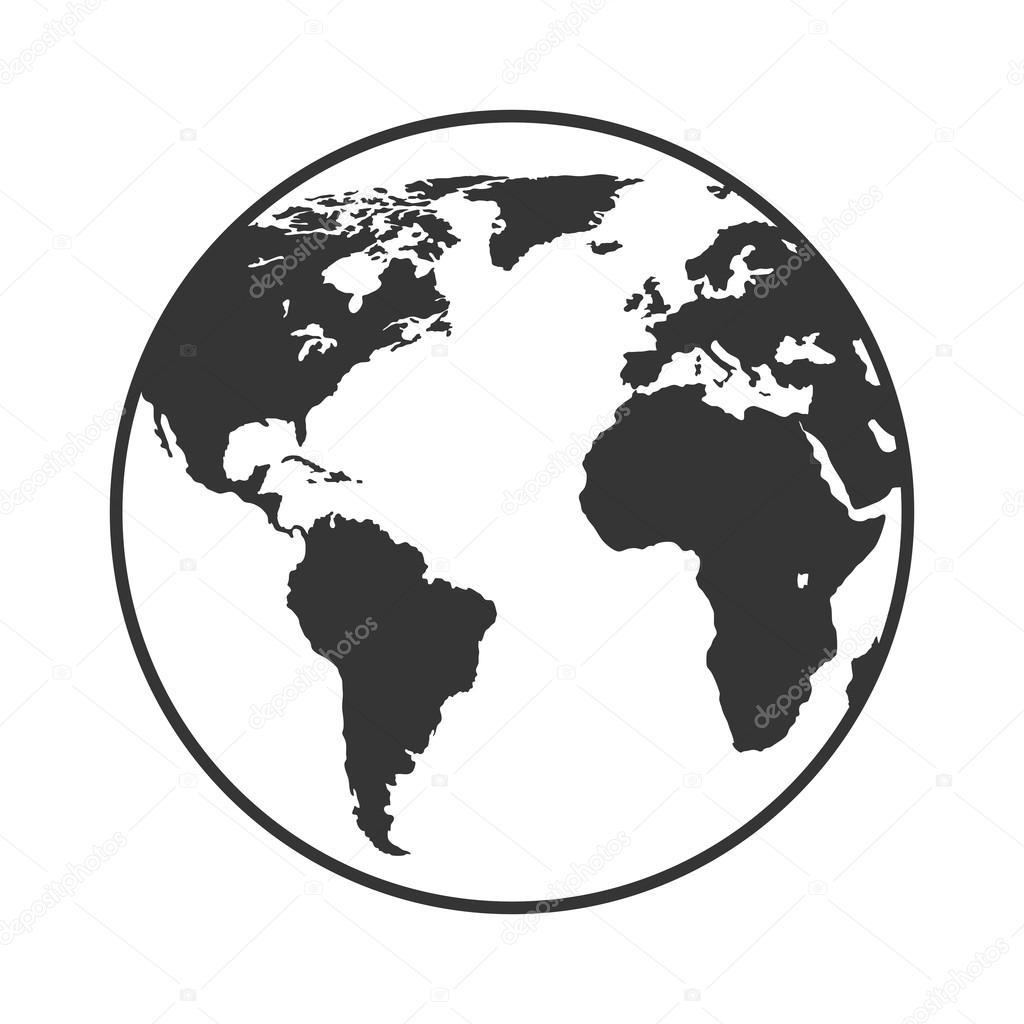 Earth planet world icon vector illustration stock vector earth planet world icon vector illustration stock vector publicscrutiny Choice Image