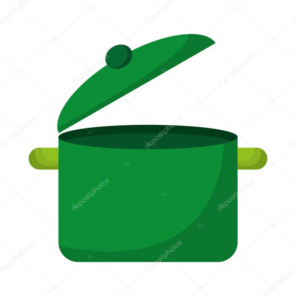 kitchen pot green icon