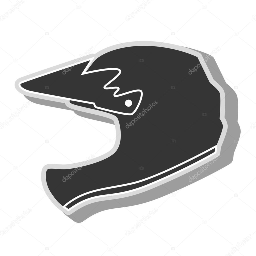 шлем мотокросс значок векторные иллюстрации векторное