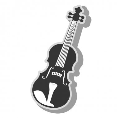 Music instrument icon vector illustration