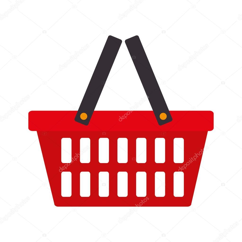 Vector Clipart Shopping Basket : Vetor de ?cone comercial cesta mercado vetores stock