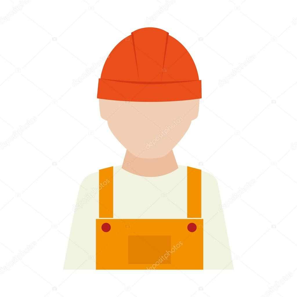 builder construction worker icon vector graphic stock vector