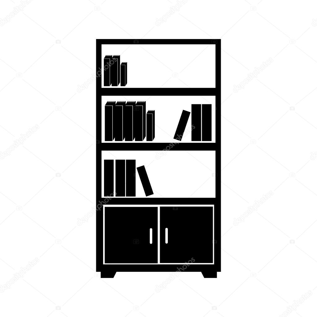 library office furniture. bookcase book shelf library bookshelf read office supplies furniture education academic vector graphic isolated and flat illustration u2014 by yupiramos n