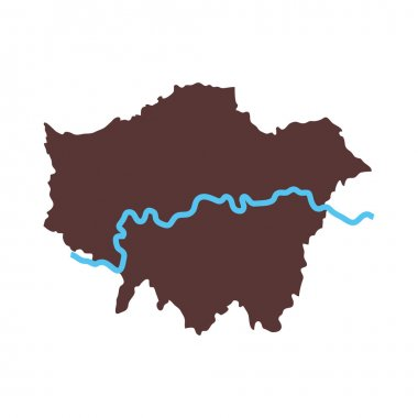london map city icon vector graphic